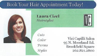 Laura Cizel Hairstylist Business Card
